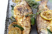 Trout with Lemons, Bay, Thyme & Rosemary