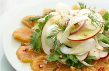 Smoked Salmon, Apple, Fennel Salad