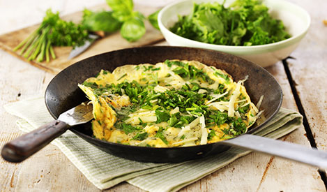 Simple Cheese & Herb Omelette